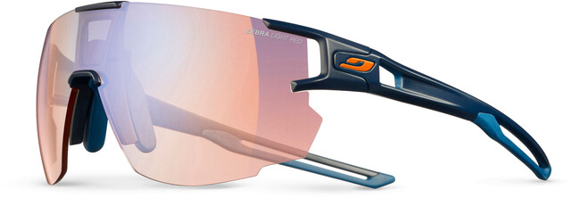Julbo Aerospeed Zebra Light Red Solbriller, dark bluedark blueorange multilayer blue